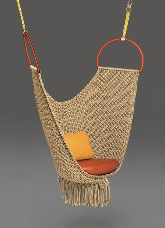 """Swing Chair"" - Patricia Urquiola tressage de corde"